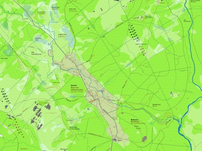 Rekonstrukční mapy Jizerských hor